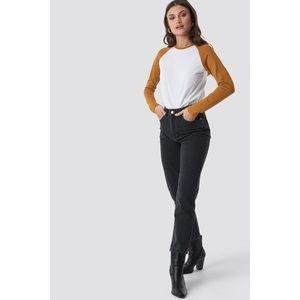 SOLD NA-KD Trend Black Mom Jeans 24W 29L $65